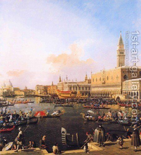 Venice, Bacino di San Marco on Ascension Day by (Giovanni Antonio Canal) Canaletto - Reproduction Oil Painting