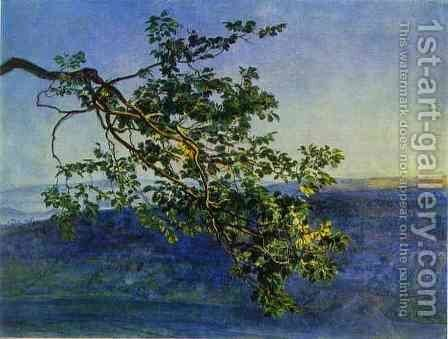 A Tree Branch by Alexander Ivanov - Reproduction Oil Painting