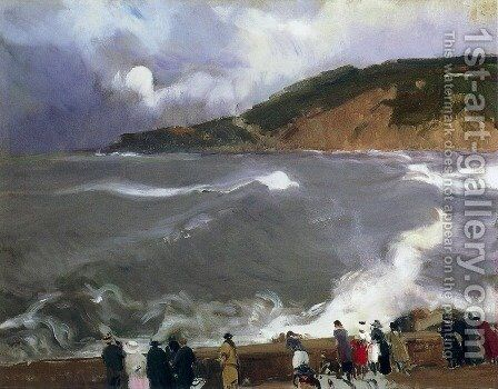 The Breakwater of San Sebastian by Joaquin Sorolla y Bastida - Reproduction Oil Painting