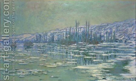 Ice Floes on Siene by Claude Oscar Monet - Reproduction Oil Painting