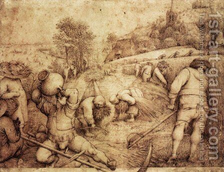 Summer by Pieter the Elder Bruegel - Reproduction Oil Painting