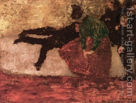 After the Ball by Edouard  (Jean-Edouard) Vuillard - Reproduction Oil Painting