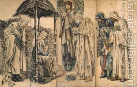 The Adoration of the Magi by Sir Edward Coley Burne-Jones - Reproduction Oil Painting