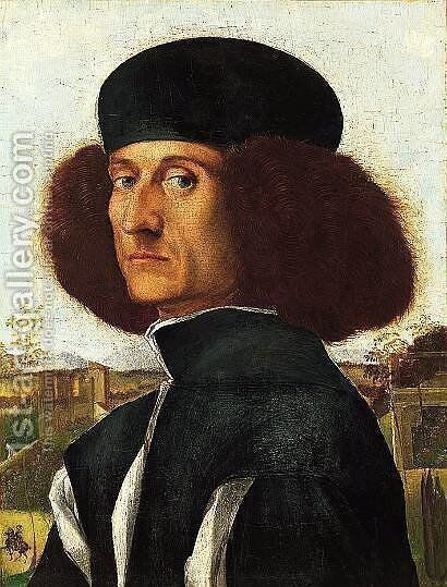 Portrait of a Venetian Nobleman by Vittore Carpaccio - Reproduction Oil Painting