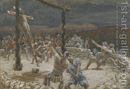 The Raising of the Cross (L'elevation de la Croix) by James Jacques Joseph Tissot - Reproduction Oil Painting
