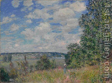 Landscape 2 by Alfred Sisley - Reproduction Oil Painting