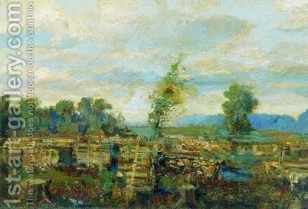 Autumn landscape by Isaak Ilyich Levitan - Reproduction Oil Painting