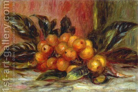 Medlar Branch by Pierre Auguste Renoir - Reproduction Oil Painting