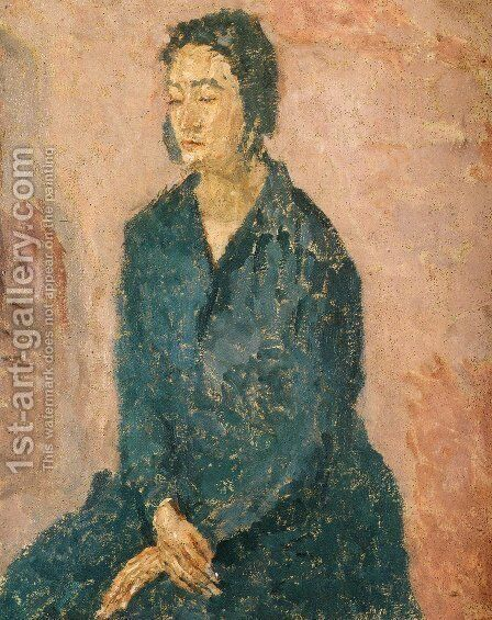 Woman with Hands Crossed by Gwen John - Reproduction Oil Painting