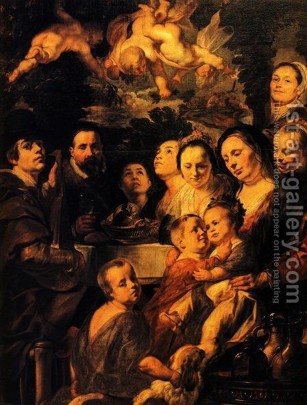 Portrait of Jordaens family by Jacob Jordaens - Reproduction Oil Painting