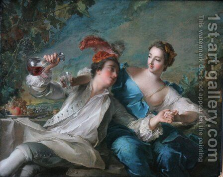 Die Liebenden by Jean-Marc Nattier - Reproduction Oil Painting