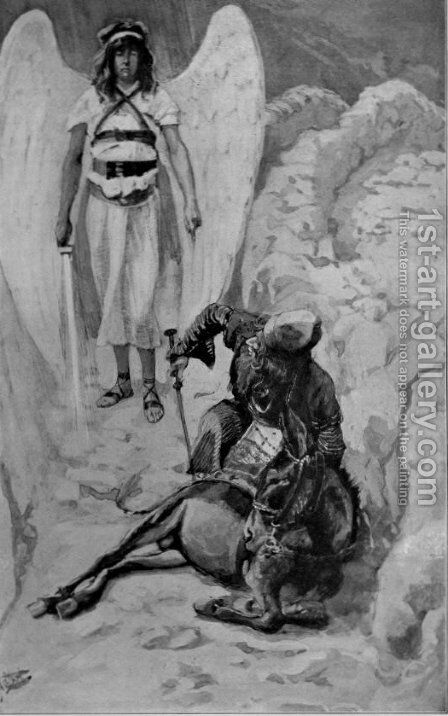 Balaam and the Ass, as in Numbers by James Jacques Joseph Tissot - Reproduction Oil Painting
