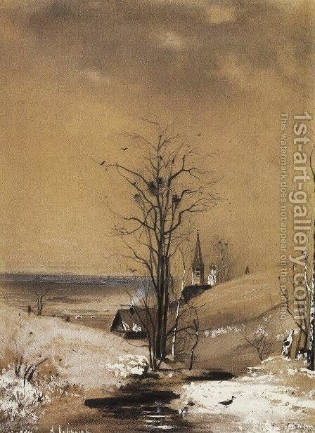 Early Spring by Alexei Kondratyevich Savrasov - Reproduction Oil Painting