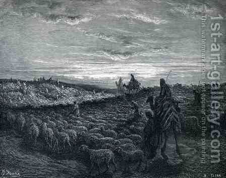 Abraham Journeying Into the Land of Canaan by Gustave Dore - Reproduction Oil Painting