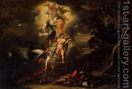Jacob's Dream by Bartolome Esteban Murillo - Reproduction Oil Painting