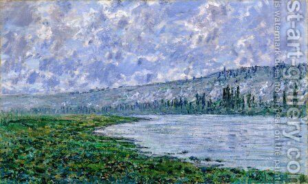 The Seine and the Chaantemesle by Claude Oscar Monet - Reproduction Oil Painting