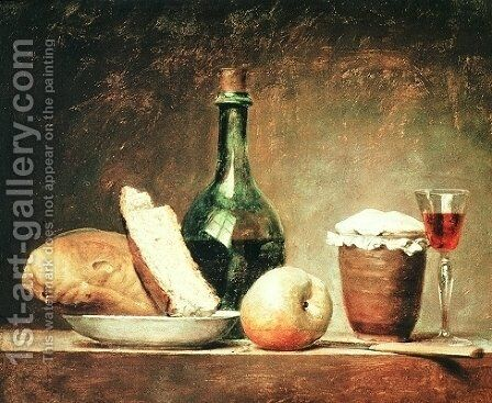 Still Life with Round Bottle by Anne Vallayer-Coster - Reproduction Oil Painting
