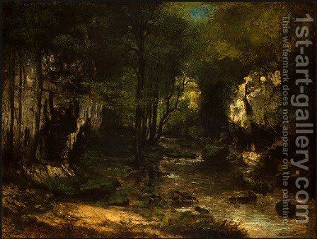 The Stream by Gustave Courbet - Reproduction Oil Painting