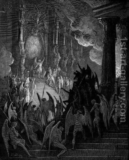 Satan in Council by Gustave Dore - Reproduction Oil Painting