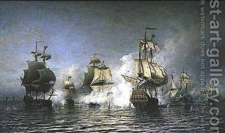 Battle of Osel Island by Aleksei Petrovich Bogolyubov - Reproduction Oil Painting