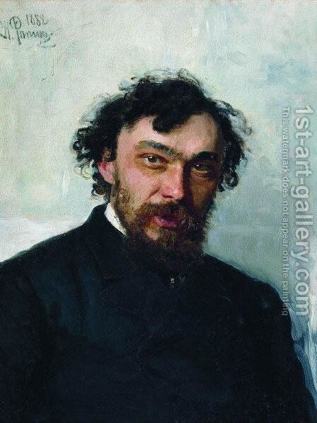 Portrait of the Artist Ivan P. Pohitonov by Ilya Efimovich Efimovich Repin - Reproduction Oil Painting