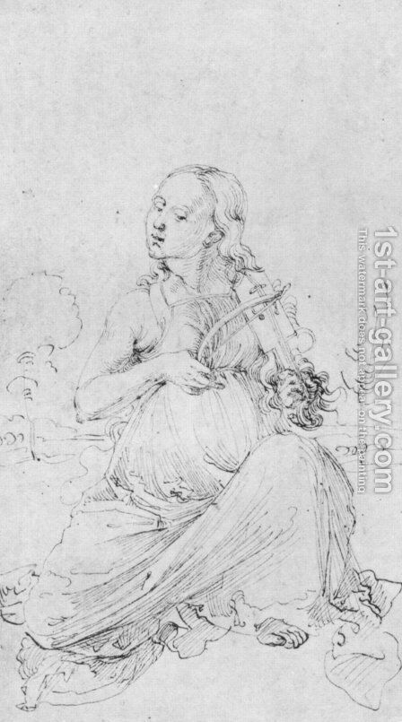 Drawing from the Tarot  The Muse Thalia by Albrecht Durer - Reproduction Oil Painting