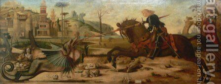 Saint George, after Vittore Carpaccio by Gustave Moreau - Reproduction Oil Painting