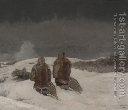 Below Zero by Winslow Homer - Reproduction Oil Painting