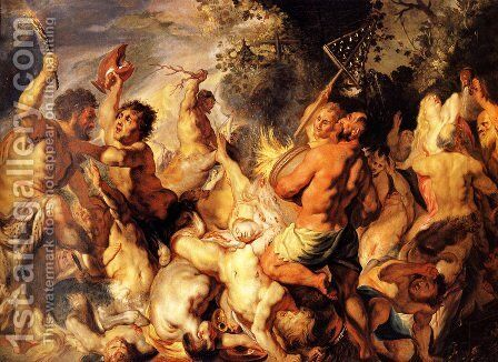 Lapiths and the Centaurs by Jacob Jordaens - Reproduction Oil Painting
