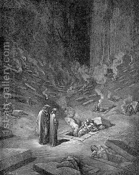 Heresiarchs by Gustave Dore - Reproduction Oil Painting