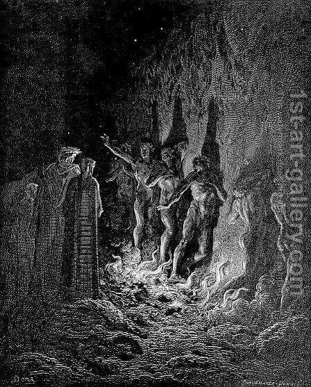 The Seventh Circle--The Lustful by Gustave Dore - Reproduction Oil Painting