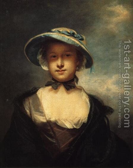 Catherine, Lady Chambers by Sir Joshua Reynolds - Reproduction Oil Painting
