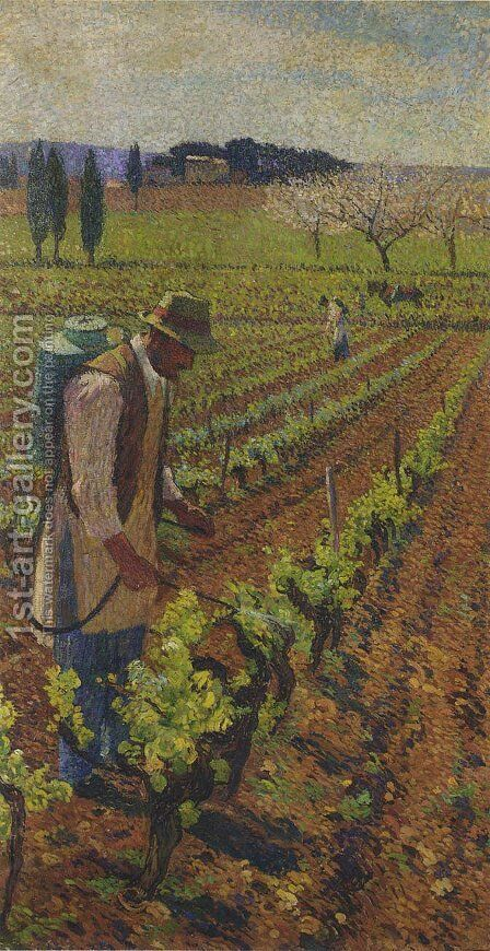Sulphuring by Henri Martin - Reproduction Oil Painting