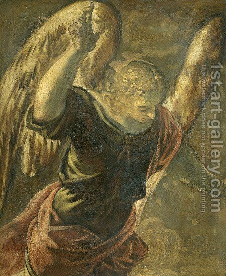 Annunciation the Angel by Jacopo Tintoretto (Robusti) - Reproduction Oil Painting