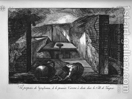 Perspective view by Giovanni Battista Piranesi - Reproduction Oil Painting