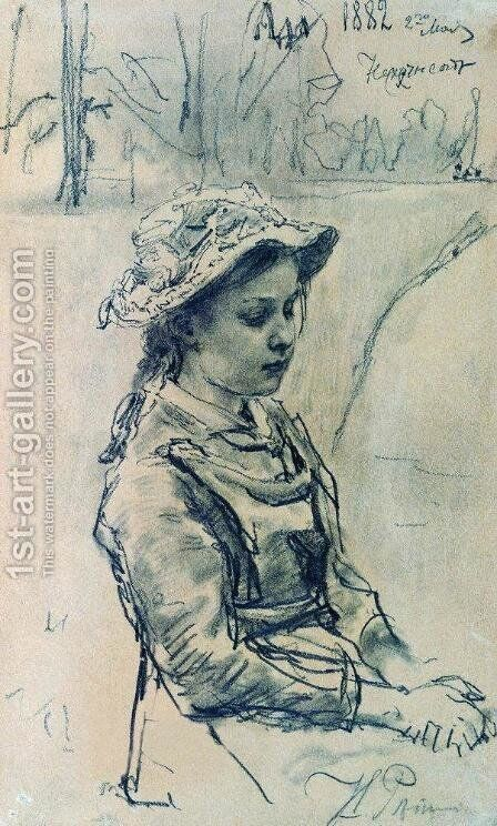 Ada girl by Ilya Efimovich Efimovich Repin - Reproduction Oil Painting