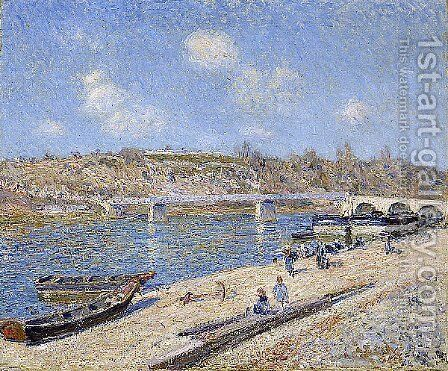 The Beach at Saint Mammes by Alfred Sisley - Reproduction Oil Painting
