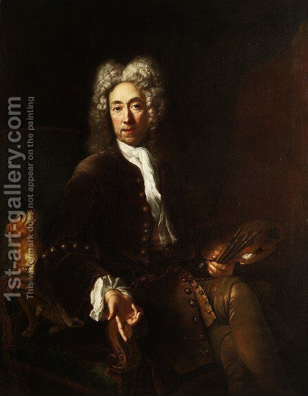 Portrait of Jean Baptiste Gayot Dubuisson by Antoine Pesne - Reproduction Oil Painting