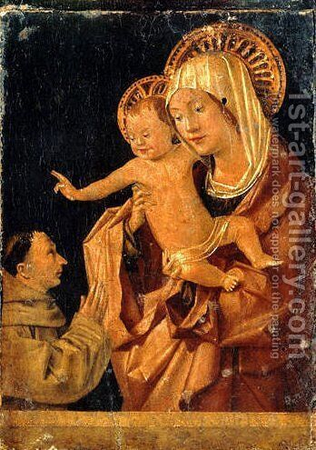 Madonna and Child with a Praying Franciscan Donor by Antonello da Messina Messina - Reproduction Oil Painting