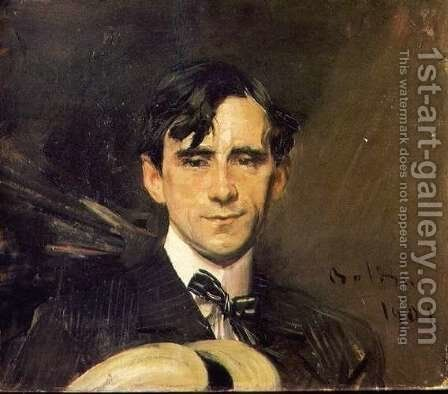 Portrait of Sem (Georges Goursat) by Giovanni Boldini - Reproduction Oil Painting