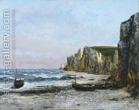 The cliffs at Etreat by Gustave Courbet - Reproduction Oil Painting