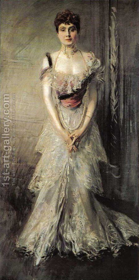Portrait of Maria Eulalia of Spain by Giovanni Boldini - Reproduction Oil Painting