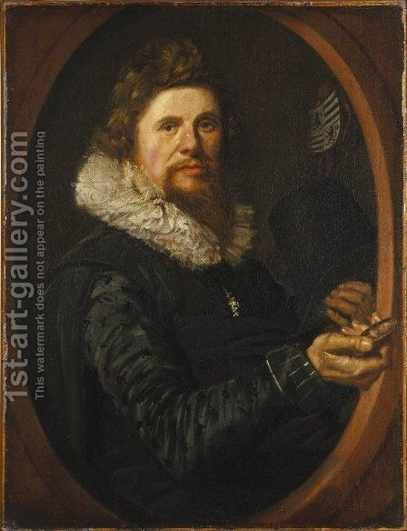 Portrait of a Man 6 by Frans Hals - Reproduction Oil Painting