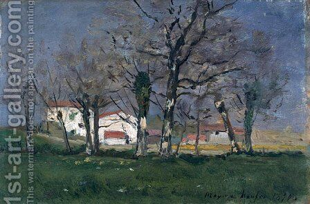 Farm in the Trees by Maxime Maufra - Reproduction Oil Painting