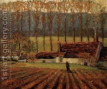 Vegetable Farm by Grant Wood - Reproduction Oil Painting