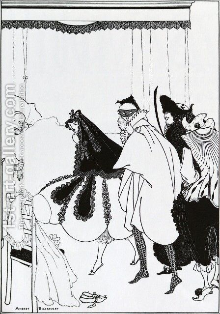 The Death of Pierrot by Aubrey Vincent Beardsley - Reproduction Oil Painting