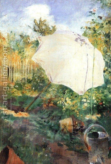 Garden in Grez by Carl Larsson - Reproduction Oil Painting