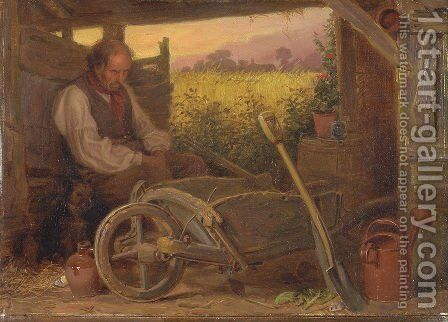 The Old Gardener by Briton Rivière - Reproduction Oil Painting