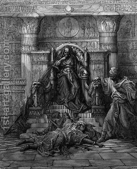 The Sultana Chegger-Eddour and the Emir Saif-Eddin by Gustave Dore - Reproduction Oil Painting
