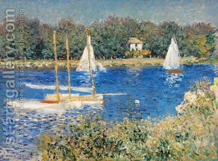 The Seine at Argenteuil 5 by Claude Oscar Monet - Reproduction Oil Painting